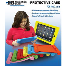 Load image into Gallery viewer, Kids Red iPad Protective Case - Learning Headphones