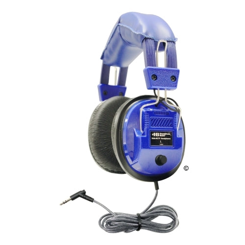 Blue Deluxe Stereo Headphone with Volume Control - Learning Headphones