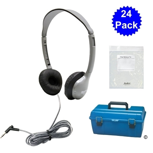 Lab Pack, 24 MS2L Personal Headphones in a Carry Case - Learning Headphones