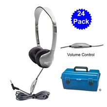 Load image into Gallery viewer, Lab Pack 24 MS2LV School Headphones in Case - Learning Headphones