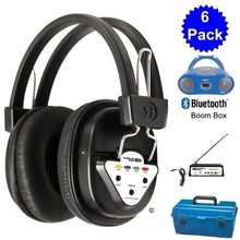 Load image into Gallery viewer, Wireless 6 Person Listening Center with Bluetooth Boombox - Learning Headphones