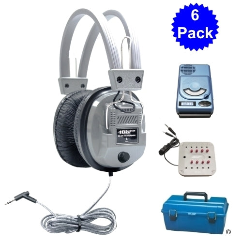 6 Person CD-MP3 Listening Center with Deluxe Headphones - Learning Headphones
