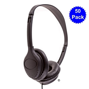 School Headphones 50 Pack  LH-313 - Learning Headphones