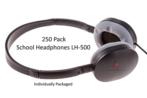 School Headphones LH-500 250 Pack - Learning Headphones