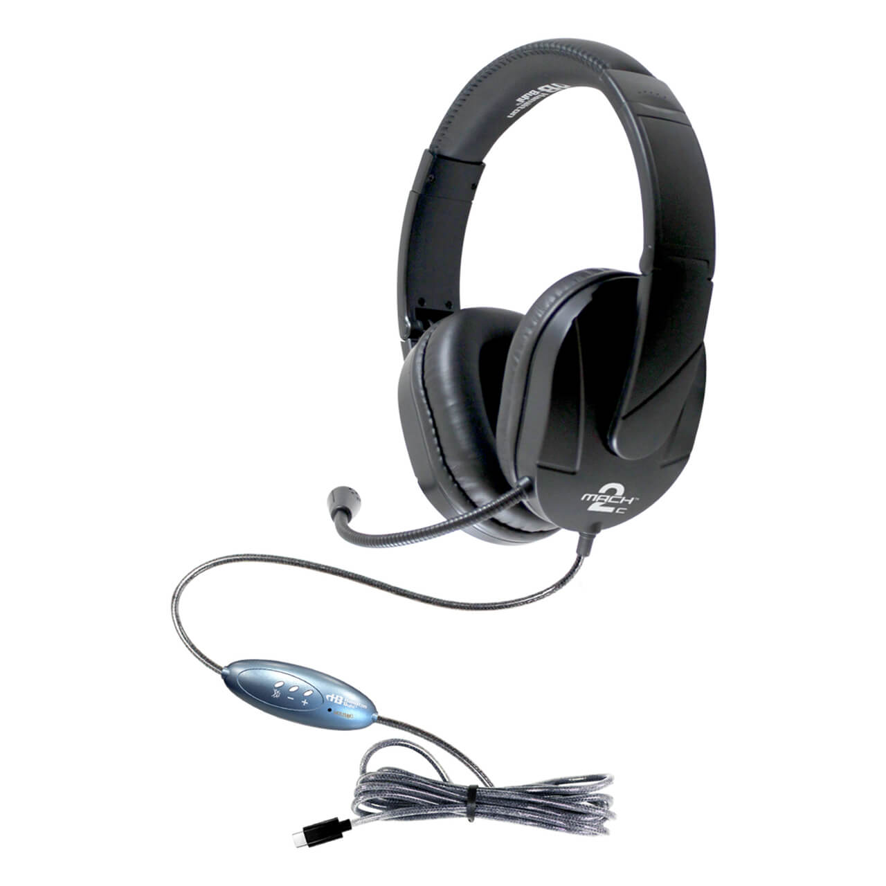 MACH-2™ USB Type -C Multimedia Stereo Headset - Over-Ear with Steel Reinforced Gooseneck Mic - Learning Headphones