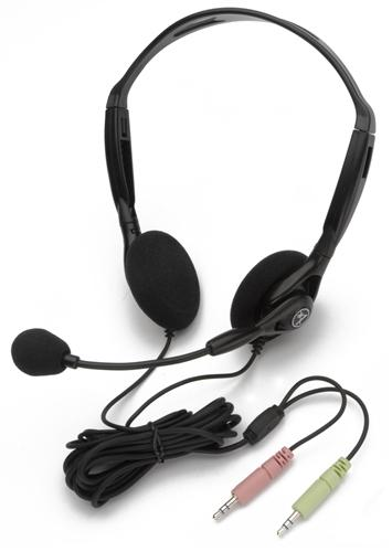 Stereo PC Headset with Dual Plugs - Learning Headphones