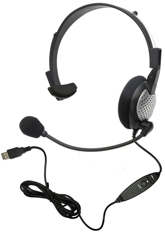 NC-181 VM USB On-Ear Mono (Monaural) Headset - Learning Headphones