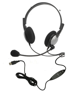 NC-185VM USB On-Ear Stereo Headset - Learning Headphones