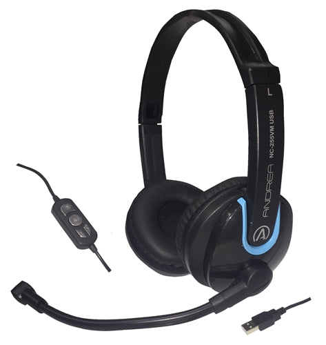 USB Stereo Headset with In-line Volume Control - Learning Headphones