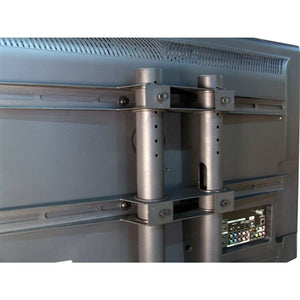 "Flat Panel AV Cart with Locking Cabinet Adjustable 34"" to 54"" - Learning Headphones"