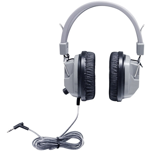 SchoolMate Deluxe Stereo Headphone with 3.5 mm Plug and Volume Control - Learning Headphones
