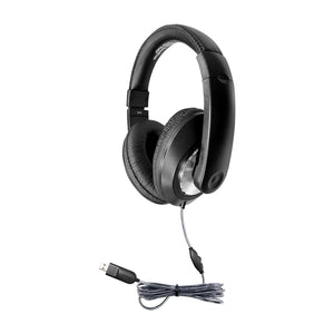 Smart-Trek Deluxe Stereo Headphone with Volume Control and USB Plug - Learning Headphones