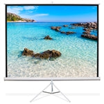 Load image into Gallery viewer, 80'' x 80'' TPS-T80 - Matte White Fabric - Square Format Projector Screen - Learning Headphones