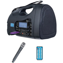 Load image into Gallery viewer, PA System, 65 Watt, Portable, USB, SD , FM , MP3 w- Hand Held Mic - Learning Headphones