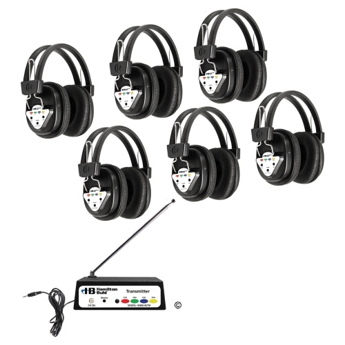 Wireless Listening Center 4 Station with Headphones and