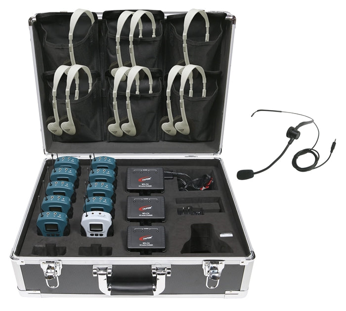 10-Person Tour Group System - Learning Headphones