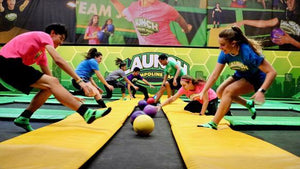 Lisbon Trampoline Dodgeball - Very Into Partying