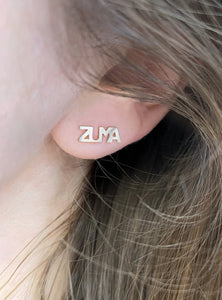 Silver 2D Zuma Stud, single earring