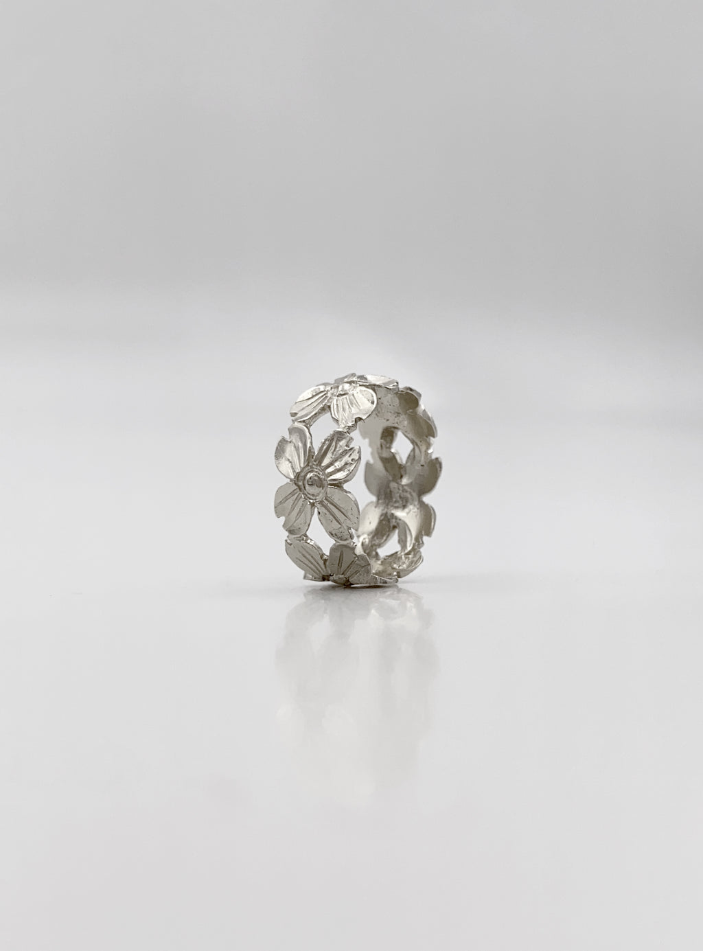 Silver Dogwood Ring