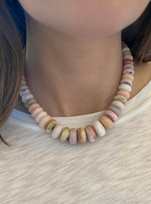 Big Pink Opal Necklace