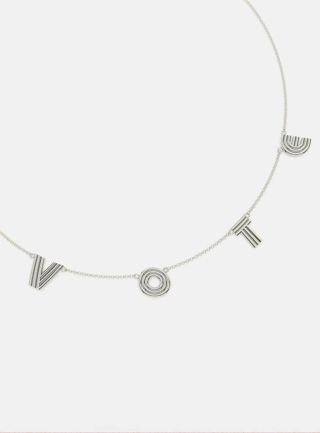 Silver Radiant VOTE Necklace