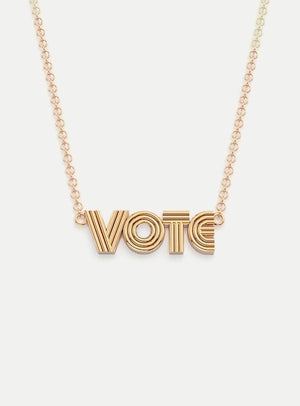 Radiant VOTE Pendant Necklace