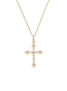 Diamond Gothic Cross Pendant