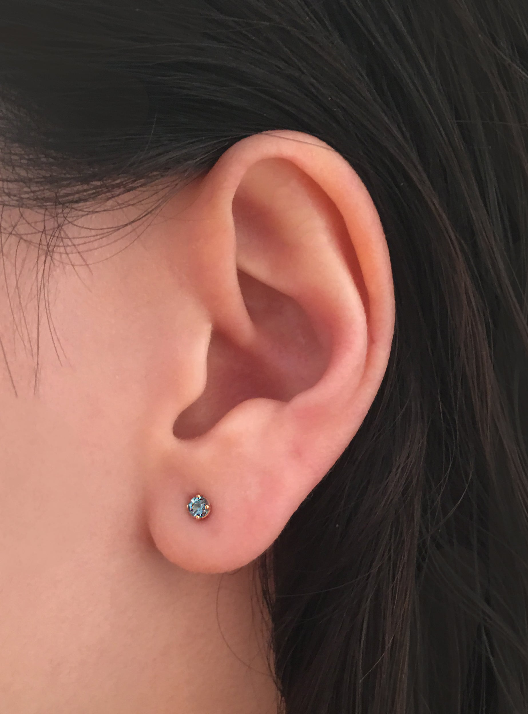 Fair Gem Stud, Single Earring