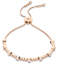 Isadora Bezel and Bead Diamond Bolo Bracelet