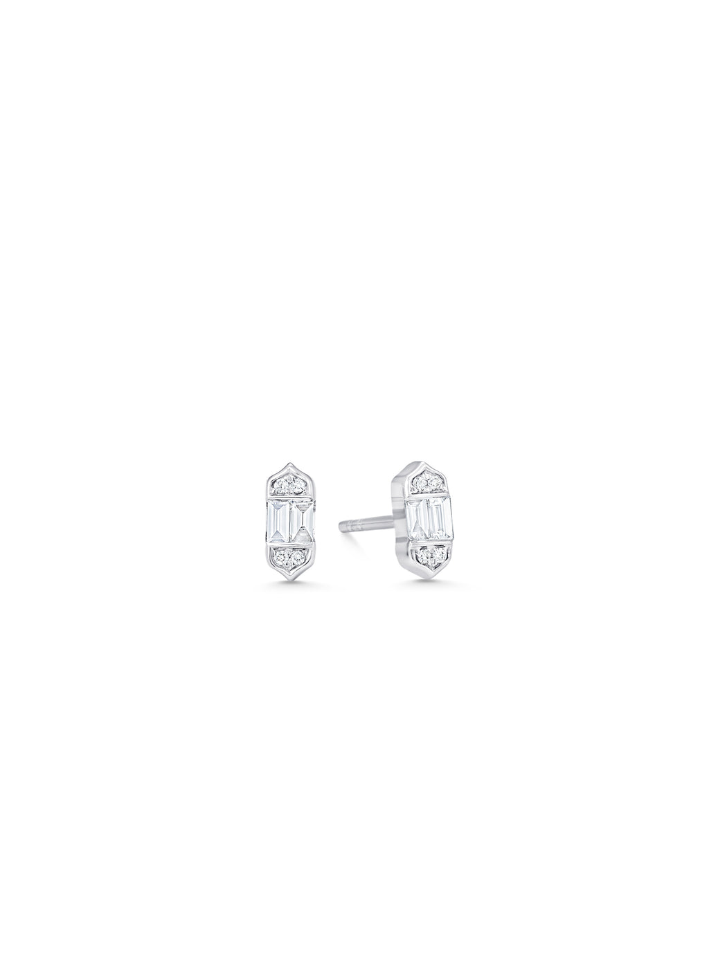 Taj Baguette Petite Stud Earrings