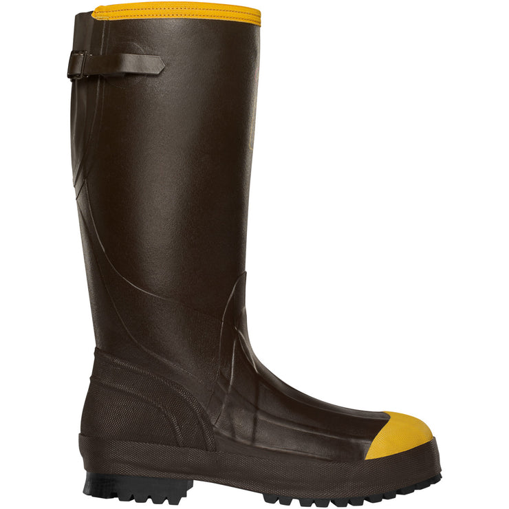 "LaCrosse Alpha Aggressive 16"" Brown 3.5MM ST - Baker's Boots and Clothing"