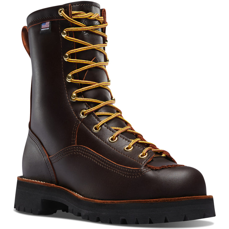 "Danner Rain Forest 8"" Brown - Baker's Boots and Clothing"