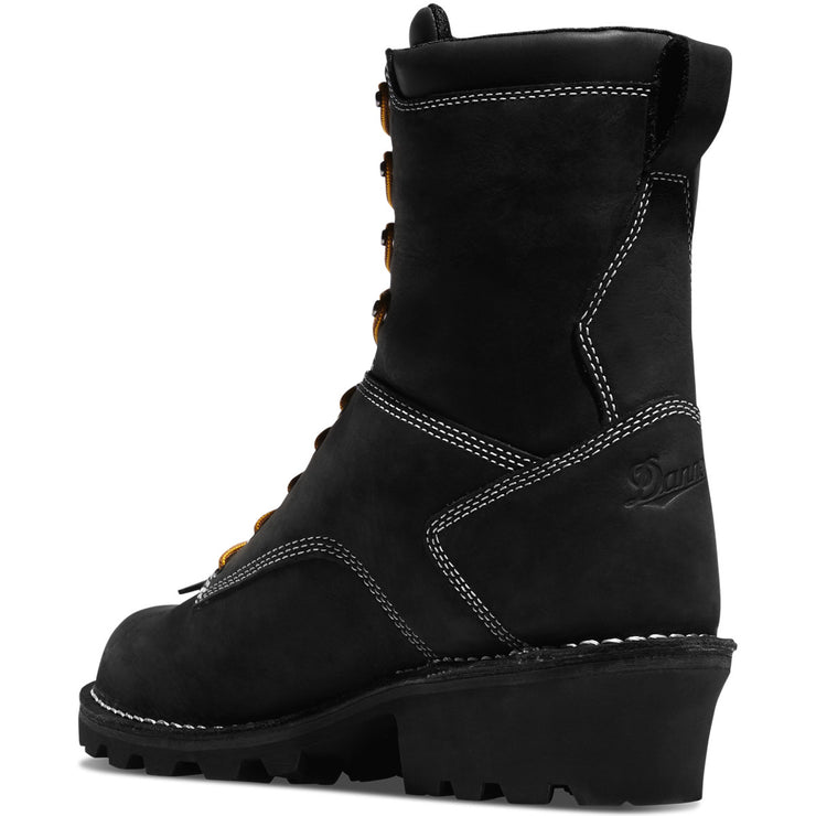 "Danner Logger 8"" Black - Baker's Boots and Clothing"