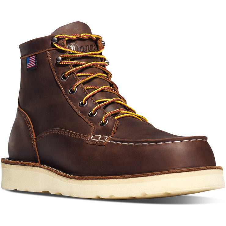 "Danner Bull Run Moc Toe 6"" Brown - Baker's Boots and Clothing"