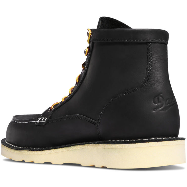 "Danner Bull Run Moc Toe 6"" Black - Baker's Boots and Clothing"