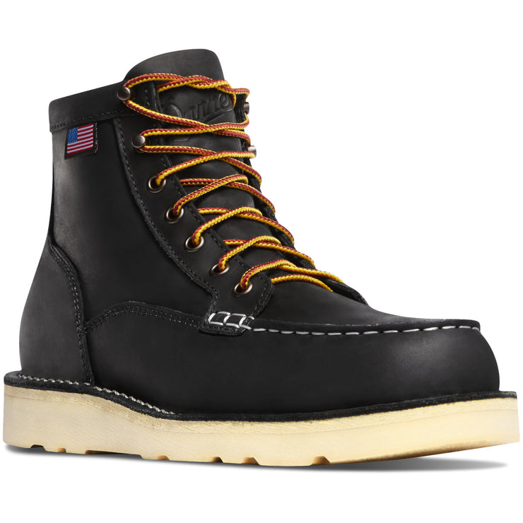 "Danner Bull Run Moc Toe 6"" Black ST - Baker's Boots and Clothing"