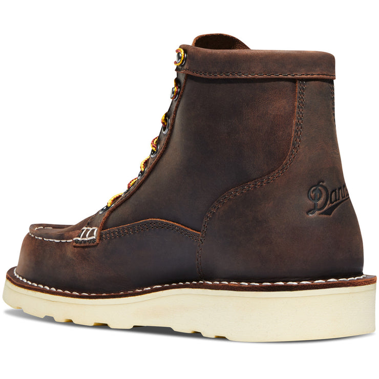 "Danner Women's Bull Run Moc Toe 6"" Brown - Baker's Boots and Clothing"