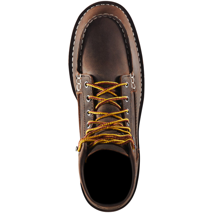 "Danner Women's Bull Run Moc Toe 6"" Brown ST - Baker's Boots and Clothing"