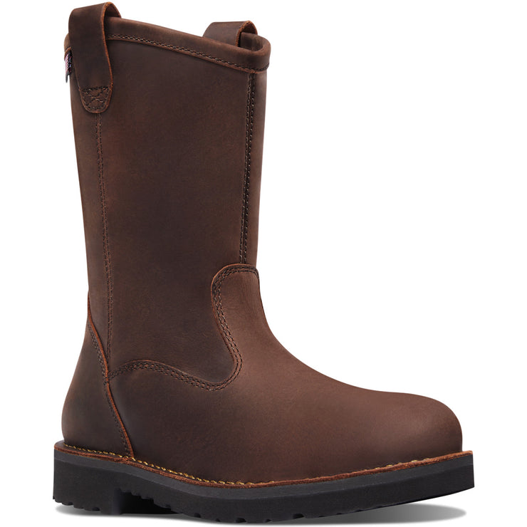 "Danner Bull Run Wellington 11"" Brown Round Toe - Baker's Boots and Clothing"