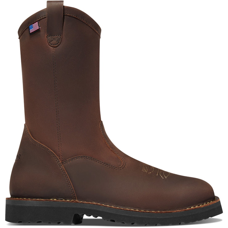 "Danner Bull Run Wellington 11"" Brown Square Toe - Baker's Boots and Clothing"