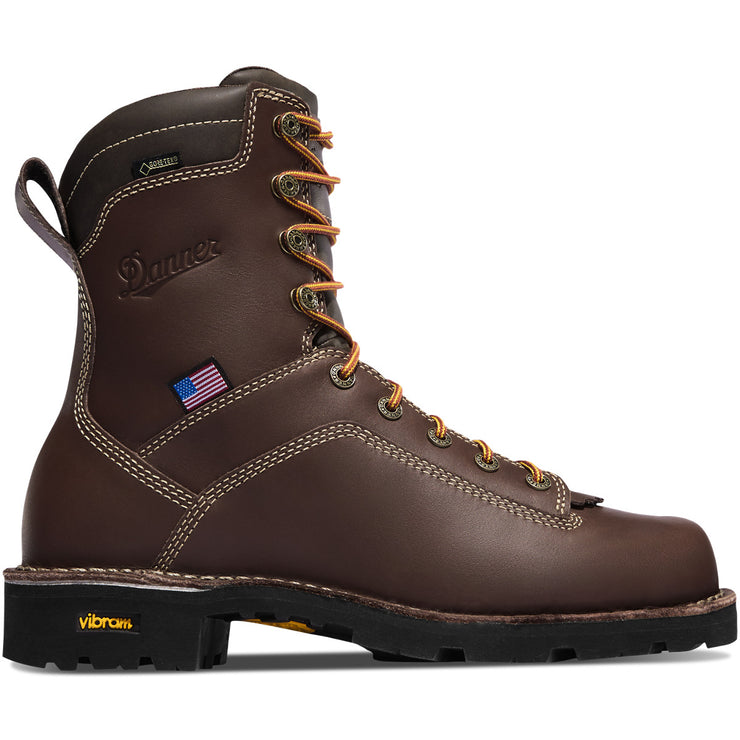 "Danner Quarry USA 8"" Brown AT - Baker's Boots and Clothing"