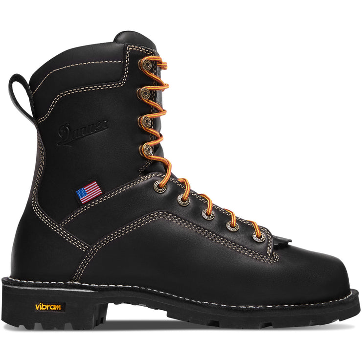 "Danner Quarry USA 8"" Black - Baker's Boots and Clothing"