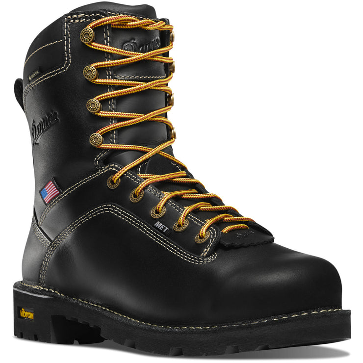 "Danner Quarry USA 8"" Black MET/AT - Baker's Boots and Clothing"