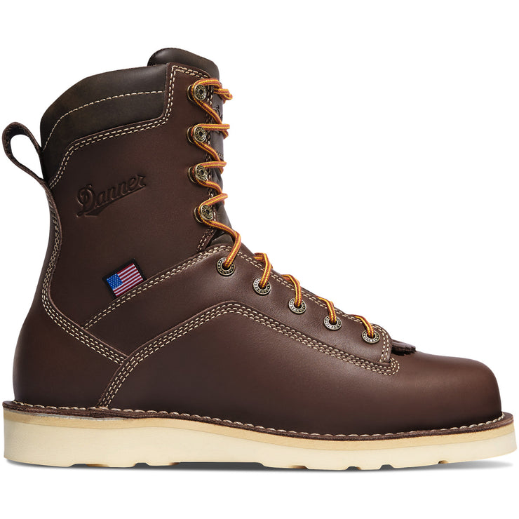 "Danner Quarry USA 8"" Brown Wedge - Baker's Boots and Clothing"