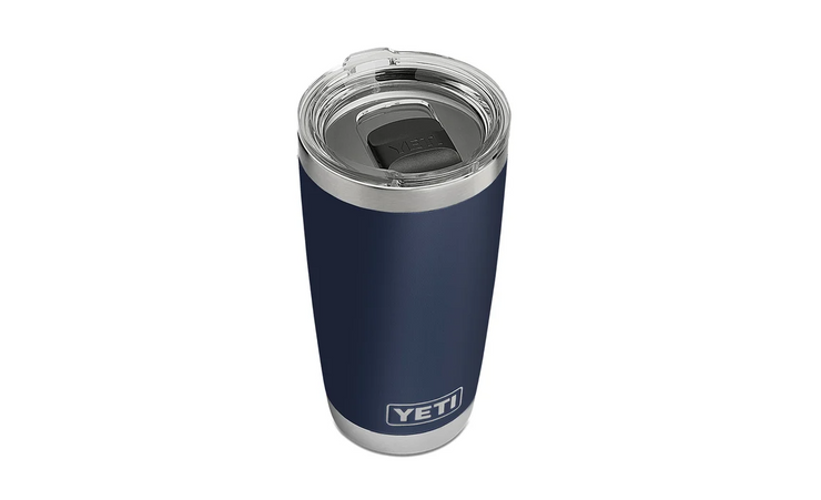 YETI RAMBLER 20 OZ TUMBLER WITH MAGSLIDER LID - NAVY - Baker's Boots and Clothing