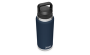 YETI RAMBLER 36 OZ BOTTLE WITH CHUG CAP - NAVY - Baker's Boots and Clothing