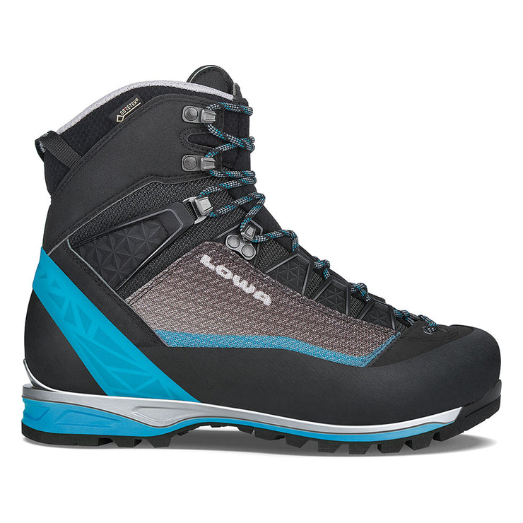 Lowa Alpine Pro GTX Women's- Black/Turquoise - Baker's Boots and Clothing