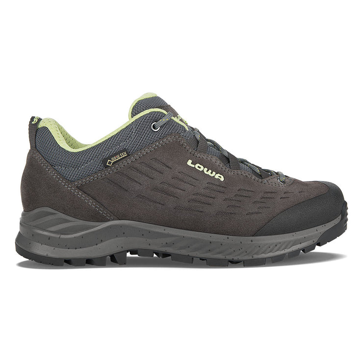 Lowa Explorer GTX Lo Women's- Anthracite & Mint - Baker's Boots and Clothing