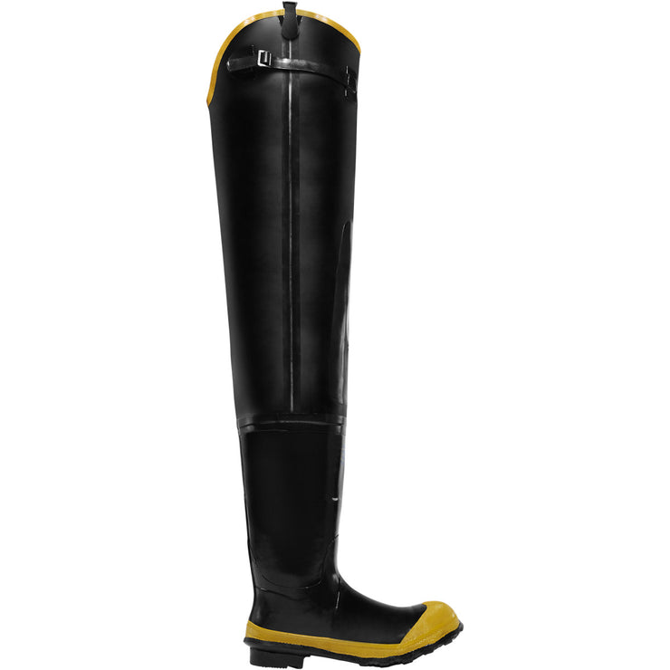"LaCrosse Economy Hip Boot 32"" Black ST - Baker's Boots and Clothing"