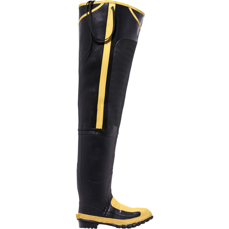 "LaCrosse 32"" Meta Hip Boot Black MET/SM/ST - Baker's Boots and Clothing"